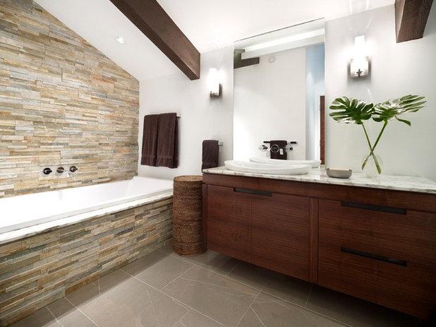 De la pierre naturelle dans la salle de bains bonne ou for Salle de bain champetre moderne