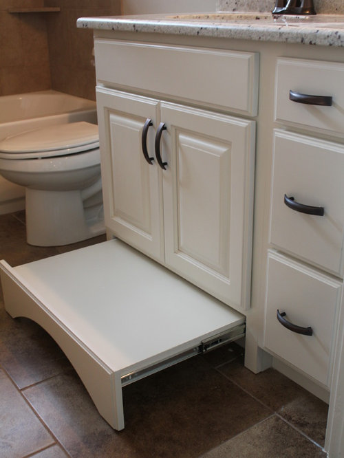 Pull out step stool home design ideas pictures remodel and decor Bathroom step stool for kids