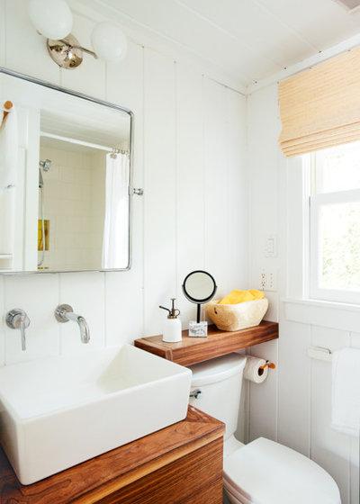 Coastal Bathroom by Tyler Karu Design + Interiors