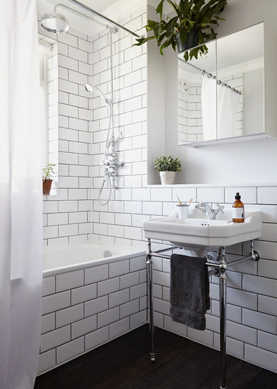 Transitional Bathroom by Kristy Noble Photography