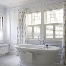 Traditional Bathroom by BACK BAY SHUTTER COMPANY INCORPORATED