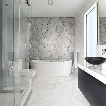 Calacatta Gold Bath by EPC Management