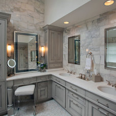transitional bathroom by Stoneshop