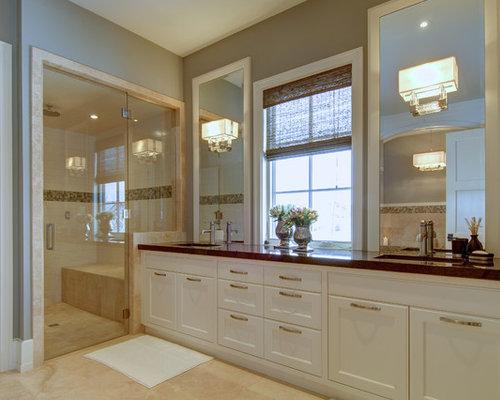 Window Between Vanities Home Design Ideas Pictures Remodel And Decor