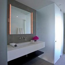 Contemporary Bathroom by Rozalynn Woods Interior Design