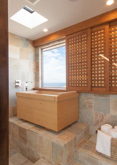 Asian Bathroom by JODI FLEMING DESIGN