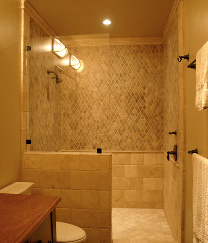 Mediterranean Luxury Walk In Showers Home Design Ideas Photos