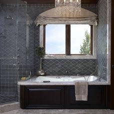 Mediterranean Bathroom by Sarah Barnard Design