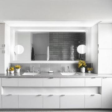 California Minimalism Primary Bedroom + Bath