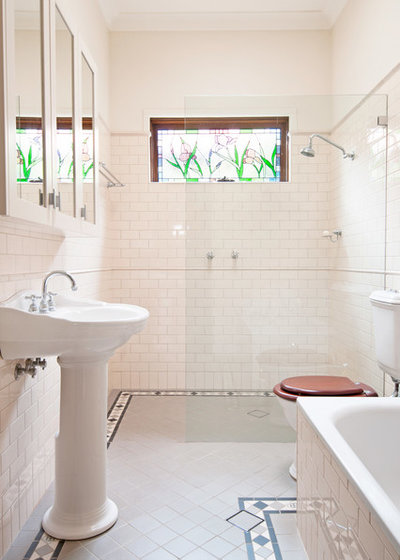 American Traditional Bathroom by Luisa Volpato Interiors