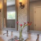 Calm and Contemporary Master Bath - Transitional - Bathroom - Chicago - by yaminidesigns, llc