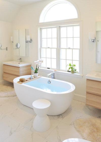 Luxury Contemporary Bathroom by Hebert Design Build