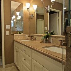 Transitional Bathroom by Gaia Kitchen & Bath