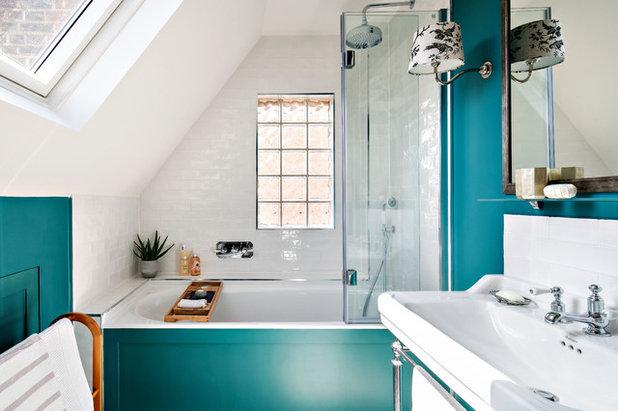 Transitional Bathroom by Georgie Wykeham Designs