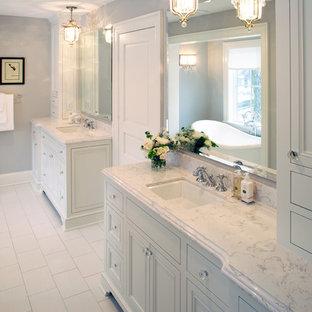 Torquay Cambria Quartz Countertops Elegant Bathroom Photo In Minneapolis