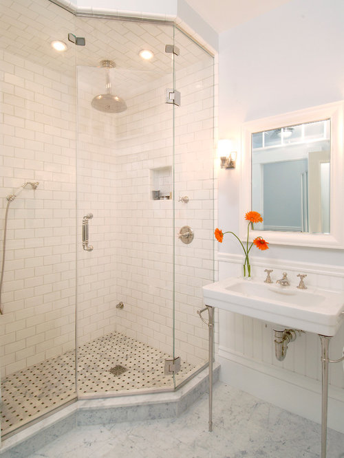 Bathroom Designs No Tiles no tile shower | houzz