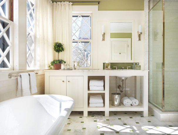 Traditional Bathroom by Charles R Myer & Partners, Ltd