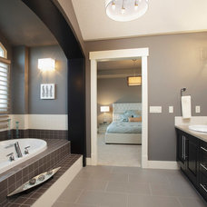 Transitional Bathroom by Crystal Creek Homes