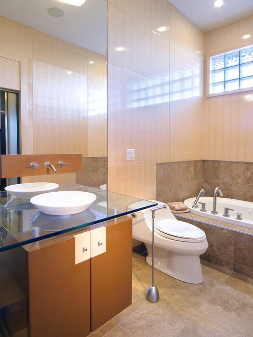 Edmonton bathroom ideas photos with brown cabinets for Bathroom ideas edmonton