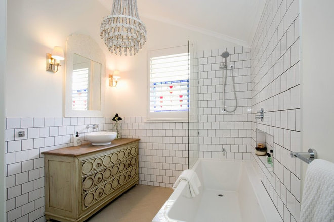 Beach Style Bathroom by Porchlight Interiors