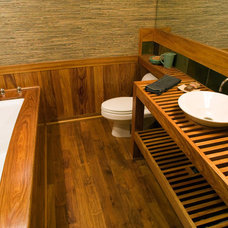 Asian Bathroom by Riverland Homes Inc