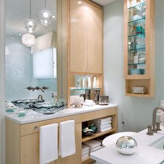 contemporary bathroom by Brandon Barré Photography