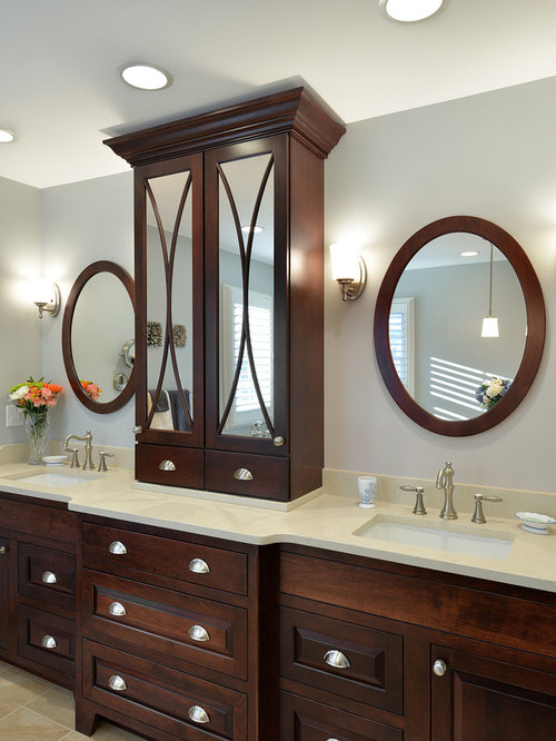 Beautiful Inspiration For A Large Timeless Bathroom Remodel In Philadelphia With An  Undermount Sink, Raised . Save Photo. Candlelight Cabinetry, Inc · 7 Reviews