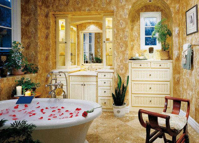 Mediterranean Bathroom by Canyon Creek Cabinet Company