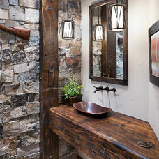 Rustic Bathroom by Glacier Stone Supply, LLC