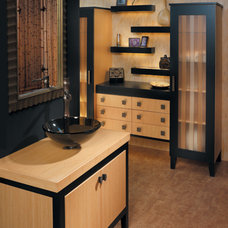 Asian Bathroom by Canyon Creek Cabinet Company