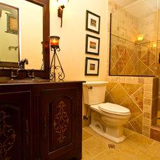 Mediterranean Bathroom by Bayview Builders Inc.