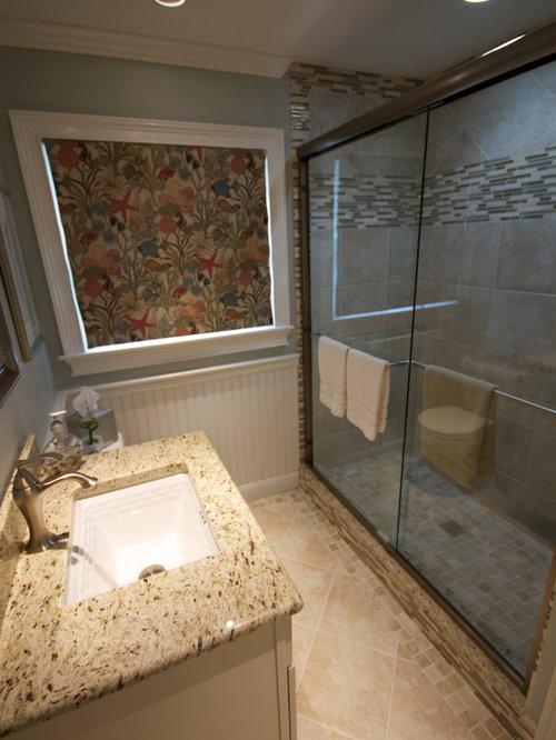 salle d 39 eau bord de mer avec un sol en travertin photos et id es d co de salles d 39 eau. Black Bedroom Furniture Sets. Home Design Ideas