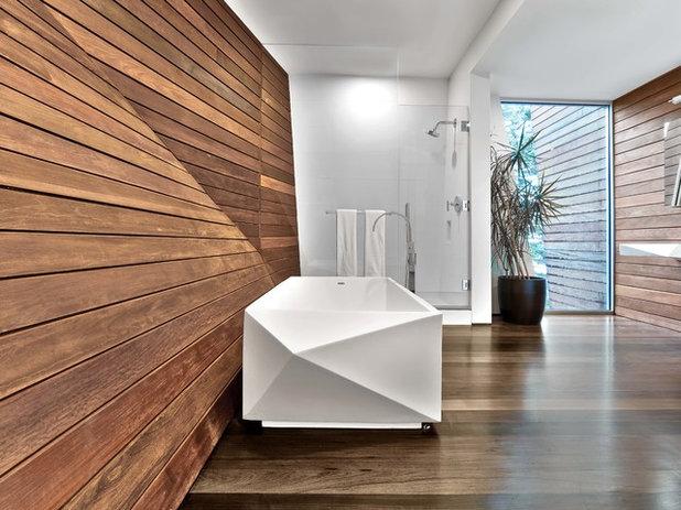 Contemporáneo Cuarto de baño by Hariri & Hariri Architecture