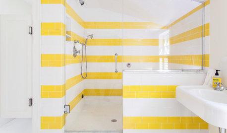 Du soleil en hiver : Osez le jaune dans la salle de bains !