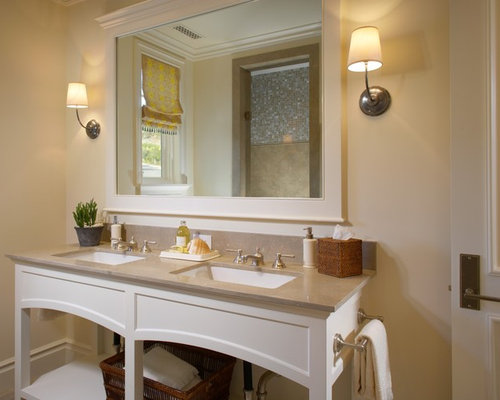 Master bath mirrors houzz for Bathroom mirrors orange county
