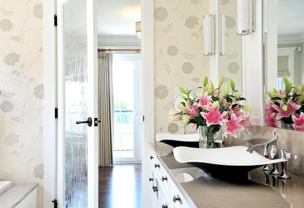 Transitional Bathroom by Enviable Designs Inc.