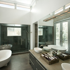 Modern Bathroom by Kaegebein Fine Homebuilding
