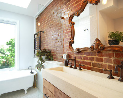 Inspiration For A Mid Sized Transitional Master Bathroom Remodel In DC  Metro With A Claw