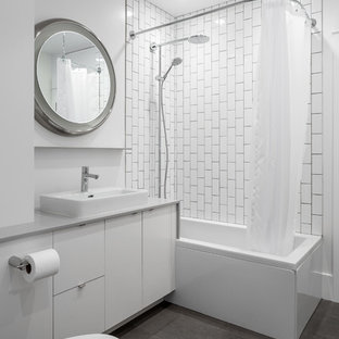 Swell Vertical Subway Tile Houzz Download Free Architecture Designs Jebrpmadebymaigaardcom