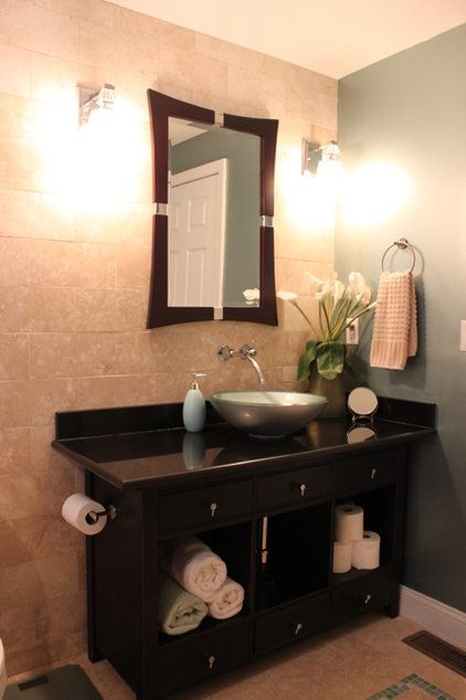 Contemporary Bathroom by Capstone Marble and Granite / Boston