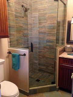womit woraus mache ich eine geflieste duschwand. Black Bedroom Furniture Sets. Home Design Ideas