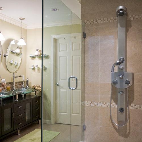 Foton och badrumsinspiration för exotiska en-suite badrum, med en ...