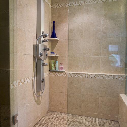 Badrum badrum panel : Foton och badrumsinspiration för exotiska en-suite badrum, med en ...