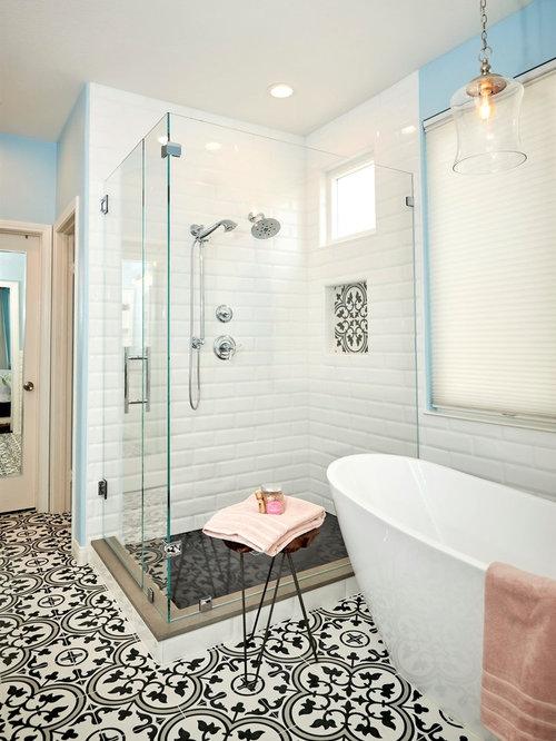 Carlsbad Black White And Pattern Bathroom Remodel - Bathroom remodel carlsbad