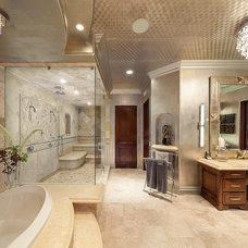 Tropical Bathroom by dRichards Interiors