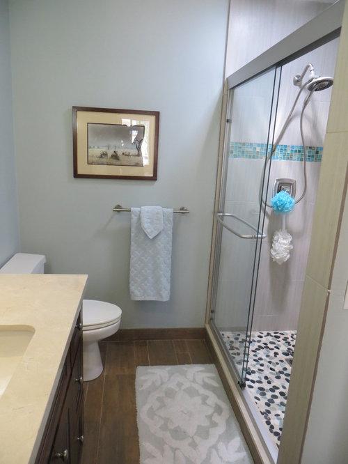 san diego bathroom design ideas renovations photos with pebble tile