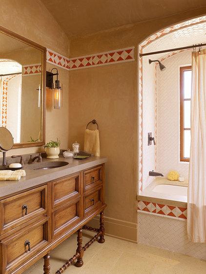 Mediterranean Bathroom by ScavulloDesign Interiors
