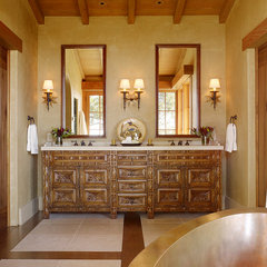 mediterranean bathroom by ScavulloDesign Interiors