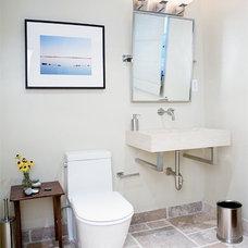 Contemporary Bathroom by Caroline Beaupere Design