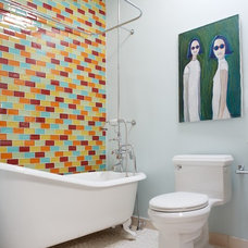 Eclectic Bathroom by Caroline Beaupere Design